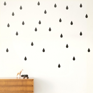 Mini Drops Muurstickers - Black van Ferm Living