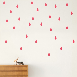 Mini Drops Muurstickers - Neon van Ferm Living