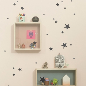 Mini Stars Muurstickers - Black van Ferm Living