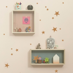 Mini Stars Muurstickers - Copper van Ferm Living