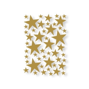 Mini Stars Wallsticker - Brass van Ferm Living