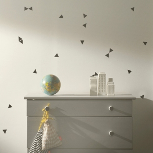 Mini Triangles Muurstickers - Black van Ferm Living