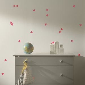 Mini Triangles Muurstickers - Neon van Ferm Living