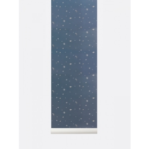 Moon Dark Blue Wallpaper van Ferm Living