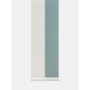 Thick Lines Wallpaper Dusty Blue/ Offwhite van Ferm Living