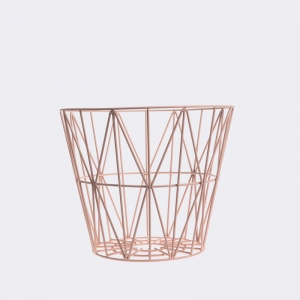 Wire basket small rose van Ferm living