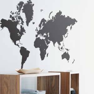 World Map Muursticker van Ferm Living