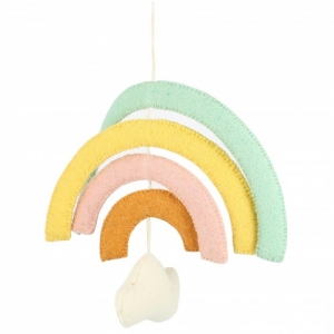 Natural Pastel Rainbow Mobile van Fiona Walker