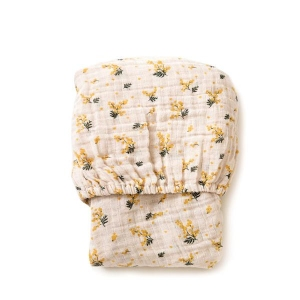 Mimosa Muslin Fitted Sheet van Garbo & Friends