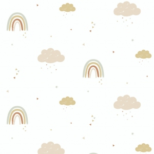 Rainbows Wallpaper van Hibou Home