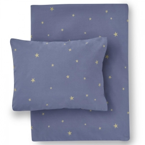 Starry Sky Organic Cotton Bed Linen Indigo/Gold van Hibou Home