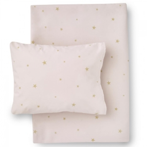 Starry Sky Organic Cotton Bed Linen Pale Rose/ Gold van Hibou Home