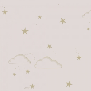 Starry sky pale rose/gold van Hibou home