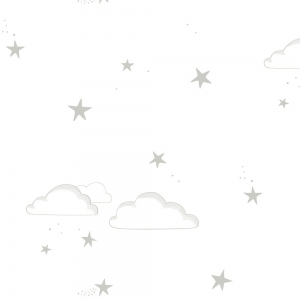 Starry Sky Wallpaper Silver/White van Hibou Home