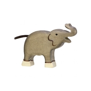 Elephant small trunk raised van Holztiger