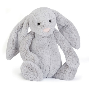 Bashful Silver Bunny Medium van Jellycat