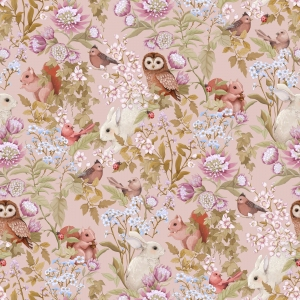 Woodland Wallpaper Blush van Jimmy Cricket