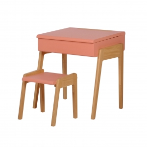 Bureau My Little Pupitre + Stool Pink van Jungle By Jungle