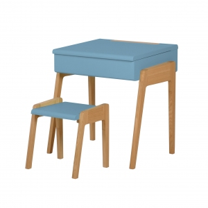 Bureau My Little Pupitre + Stool Blue van Jungle By Jungle