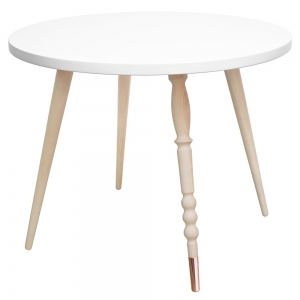 Tafel Round Coffee Table My Lovely Ballerine White-Beech van Jungle By Jungle