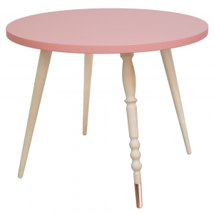 Tafel Round Coffee Table My Lovely Ballerine Pink-Beech van Jungle By Jungle