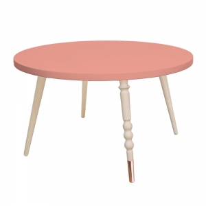 Round Coffee Table My Lovely Ballerine Pink-Beech van Jungle By Jungle