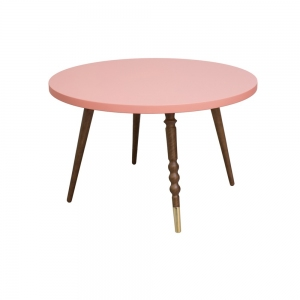 Tafel Round Coffee Table My Lovely Ballerine Pink-Walnut van Jungle By Jungle