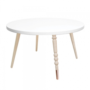 Round Coffee Table My Lovely Ballerine White-Beech van Jungle By Jungle