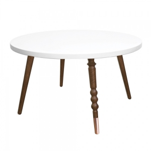 Tafel Round Coffee Table My Lovely Ballerine White-Walnut van Jungle By Jungle