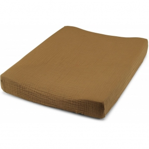 Fitted Sheet For Changing Cushion Dark Honey van Konges Slojd