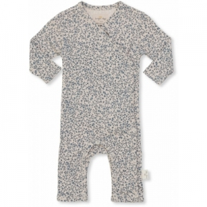 New Born Onesie Blue Blossom van Konges Slojd