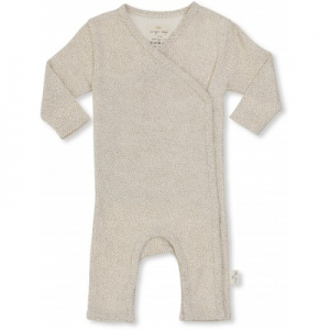 New Born Onesie Caramel Mini Dots van Konges Slojd