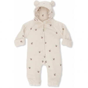New Born Onesie With Hood Cherry Blush van Konges Slojd