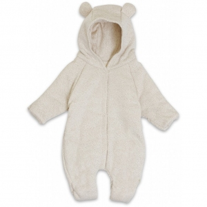 Onesie With Hood Caramel Mini Dots van Konges Slojd