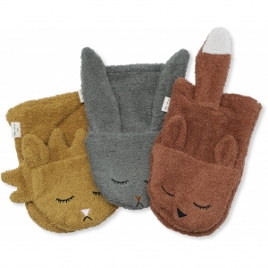 Wash Cloths Animals 3-Pack Boy  van Konges Slojd