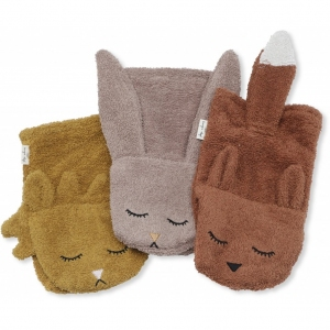 Wash Cloths Animals 3-Pack Girl van Konges Slojd