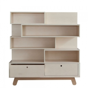Boekenkast Bookcase The Peekaboo Natural-White van Kutikai