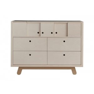 Commode Chest Of Drawers The Peekaboo Natural-White van Kutikai