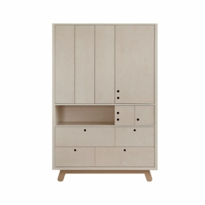 Kledingkast Wardrobe The Peekaboo Naturel-White van Kutikai