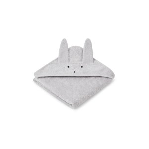 Albert Hooded Baby Towel Rabbit Dumbo Grey  van Liewood