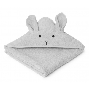 Augusta Hooded Towel Rabbit Dumbo Grey van Liewood