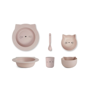 Barbara Bamboo Baby Set Cat Rose van Liewood