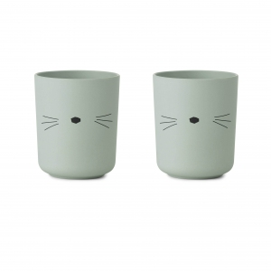Bente Cup 2pack Cat Dusty Mint van Liewood