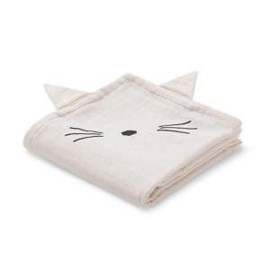 Hannah Muslin Cloth Cat Sweet Rose 2pack van Liewood