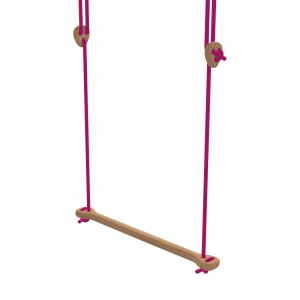 Lillagunga Bone - Oak - Fuchsia Rope van Lillagunga