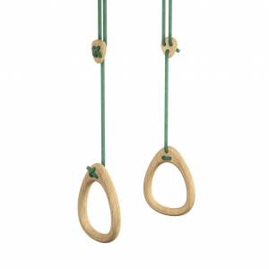 Lillagunga Rings - Oak - Green Rope van Lillagunga