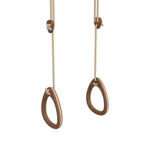 Lillagunga Rings - Walnut - Beige Rope van Lillagunga