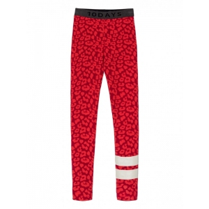 Leggings Leopard Dark Red van Little 10 Days