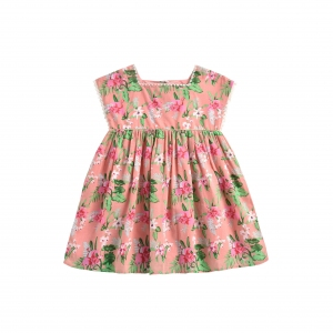 Dress Tapalpa Sienna Flamingo van Louise Misha