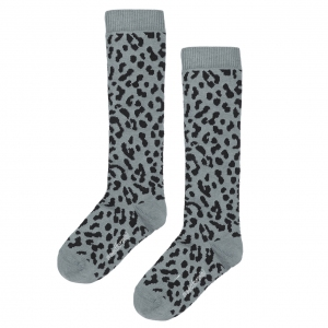 Blue Leopard Knee Socks van Maed For Mini